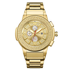 JBW Saxon Mens 1/6 CT. T.W. Diamond Gold-Tone Stainless Steel Watch JB-6101-D
