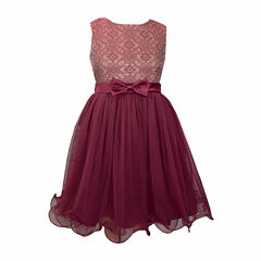 Bonnie Jean Sleeveless Cap Sleeve Party Dress - Big Kid Girls