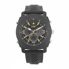 Wrist Armor U.S. Army C21 Mens Black Strap Watch-37200003