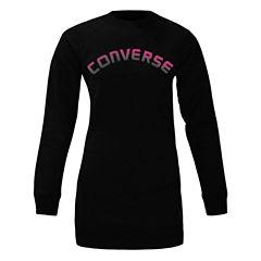 Converse Long Sleeve Sweatshirt Dress - Girls' Sizes 7-16