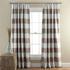 Lush Decor Stripe 2-Pack Room Darkening Curtain Panel