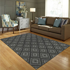 JCPenney Home Diamond Washable Rectangular Rug