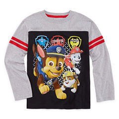 Long Sleeve Crew Neck Paw Patrol T-Shirt-Preschool Boys