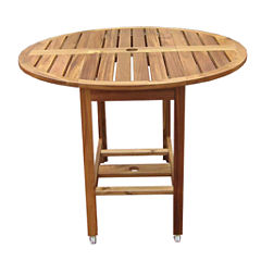 Northbeam Acacia Folding Round Patio Dining Table