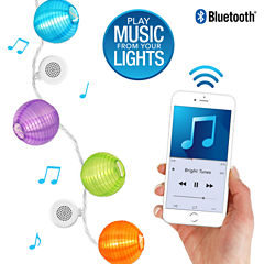 Bright Tunes Indoor/Outdoor Decorative Nylon Lanterns LED String Lights with Bluetooth Speakers