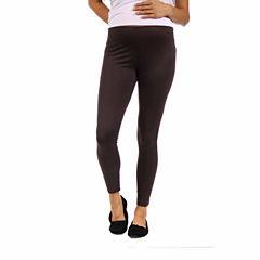 24/7 Comfort Apparel Knit Leggings-Plus Maternity