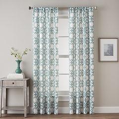 Lotus Harmony Rod-Pocket Curtain Panel