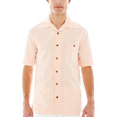 Island Shores™ Short-Sleeve Textured Plaid Shirt