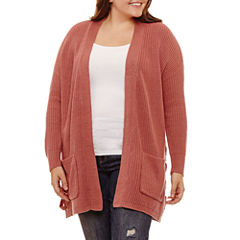 Arizona Lace Up Cardigan- Juniors Plus