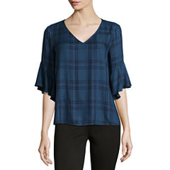 a.n.a Belle Sleeve Plaid Shirt