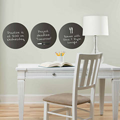 WallPops Charcoal Dry Erase Dot Decals