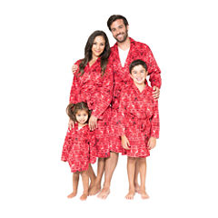 Red Fairisle Family Robe