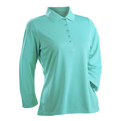 Luster 3/4 Sleeve Polo Plus