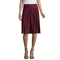 Liz Claiborne Faux Suede Pleated Skirt