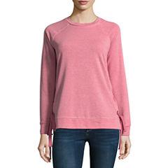 a.n.a. Long Sleeve Side Tie Sweatshirt