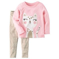 Carter's 2-pc. Cheetah Pant Set Girls