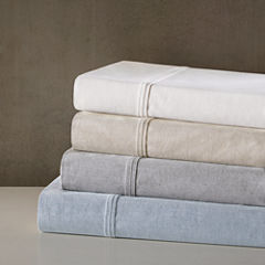 Urban Habitat Fiber Dyed Cotton Percale Weave Easy Care Sheet Set