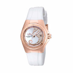 Techno Marine Womens White Strap Watch-Tm-115208