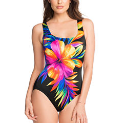 Robby Len By Longitude Floral One Piece Swimsuit