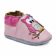 Soft Sole Leather Crib Bootie Baby Shoes - Hoot Hoot Owl