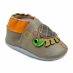 Soft Sole Leather Crib Bootie Baby Shoes - Turtle