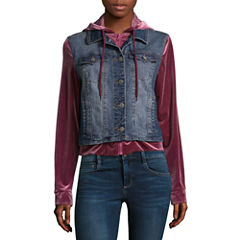 Wallflower Denim Jacket-Juniors