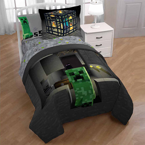 Minecraft 2-pc. Twin/Full Reversible Comforter Set
