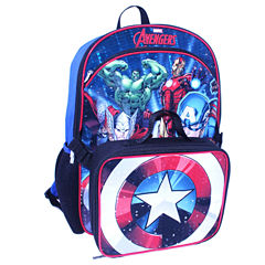 Avengers Backpack with Lunch Kit