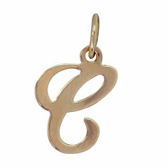 Personalized 14K Yellow Gold Initial C Pendant Necklace
