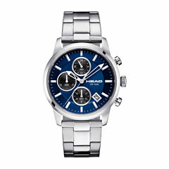 Head Match Point Mens Silver Tone Bracelet Watch-He-004-03