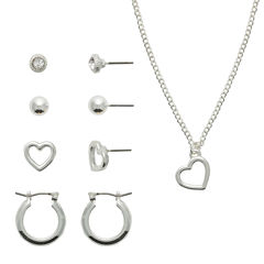 Sensitive Ears Womens 5-pc. Stainless Steel Jewelry Set