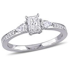Womens 5/8 CT. T.W. Genuine Multi-Shape White Diamond 14K Gold Engagement Ring