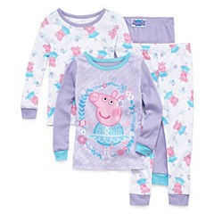 4-pc. Peppa Pig Pajama Set Girls