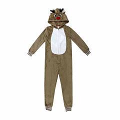 North Pole Trading Co. Family Pajamas Long Sleeve One Piece Pajama-Big Kid Unisex Husky