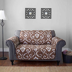 Journee Home Massimo Reversible Printed Loveseat Protector