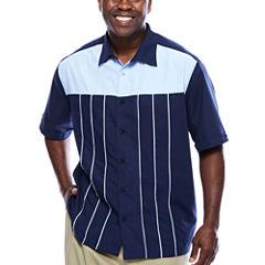 Havanera™ Poly Front Piped Yoke Short Sleeve Shirt