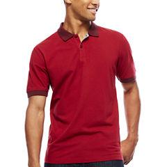 ARGYLECULTURE Short-Sleeve Pattern Polo Shirt