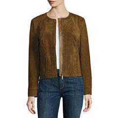 Liz Claiborne® Suede Leather Jacket
