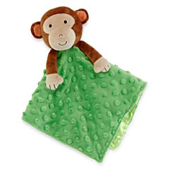 Okie Dokie® Plush Monkey Snuggle Buddy Blanket