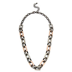 Worthington Womens 13 Inch Link Necklace