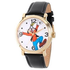 Disney Mickey and Friends Mens Black Strap Watch-Wds000339