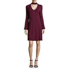 Spense 3/4 Sleeve Swing Dresses