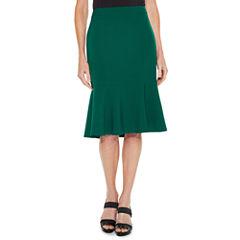 Black Label by Evan-Picone Flared Skirt