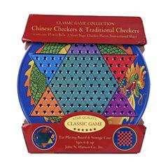 John N. Hansen Co. Chinese Checkers & TraditionalCheckers Tin