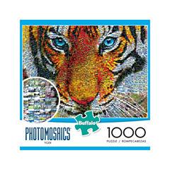 Buffalo Games Photomosaics Jigsaw Puzzle - Tiger:1000 Pcs
