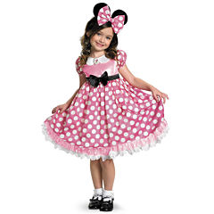 Clubhouse Minnie Mouse  Pink Minnie Glow In The Dark Dot Dress size 3T4T
