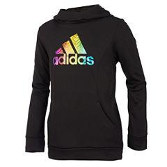 Adidas Logo Long Sleeve Sweatshirt - Preschool Girls