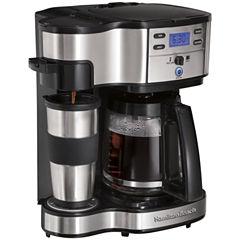 Hamilton Beach® Scoop Programmable 2-Way Coffee Maker