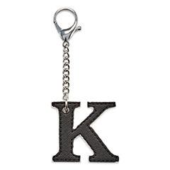 Initial Charm K Key Chain