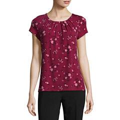 Worthington® Short-Sleeve Scoop Neck T-Shirt - Petites